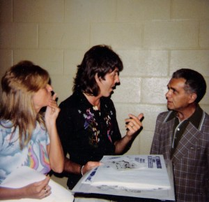 Paul & Linda McCartney w. Jack Kirby (1976)