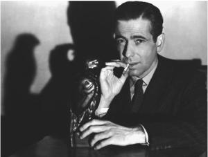 Humprey Bogart as Philip Marlowe