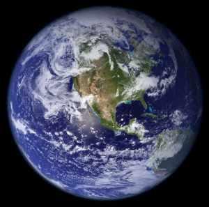 La Terra vista dallo spazio (fonte: Nasa)