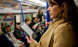 Woman reading an ebook