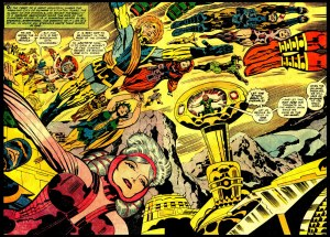 jack kirby -  eternals dbl splash 4