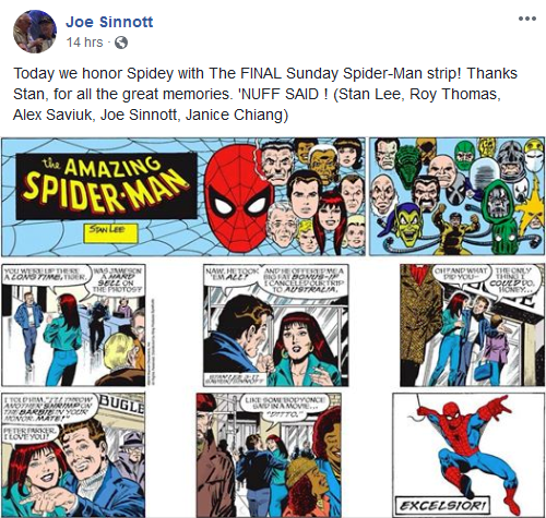 Last Sinnott's Spidey strip