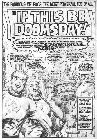Fantastic Four # 49, disegni di Jack Kirby, solo matite © Marvel